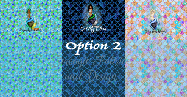 Mermaid Option 2- NO WORDS - Panty Panel Set