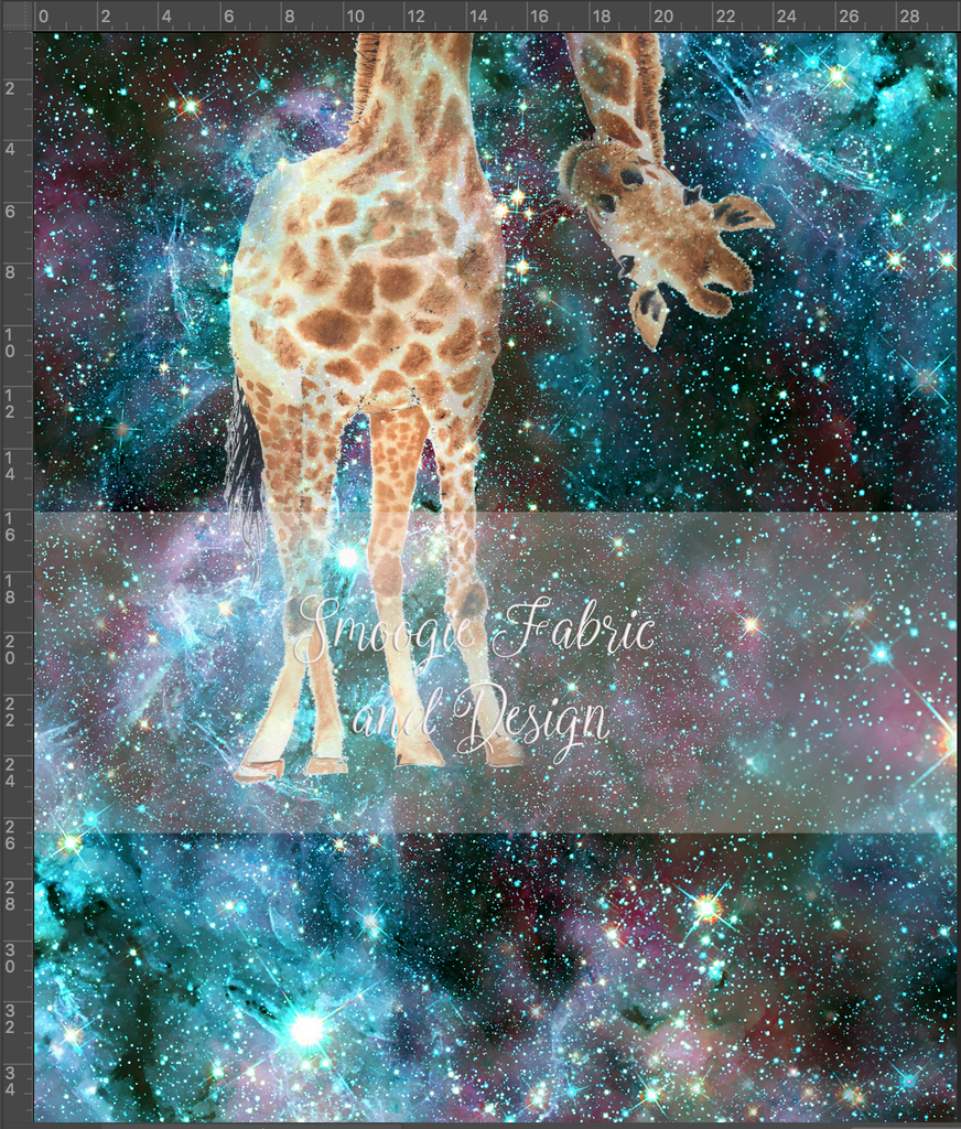Giraffe panels - French Terry