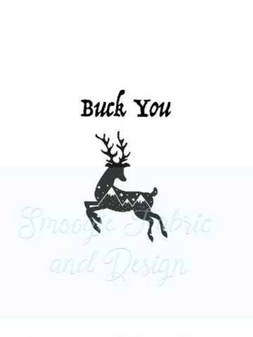 Buck You panels - Cotton Lycra