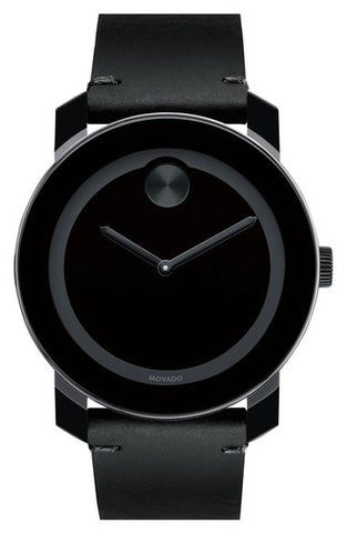 'Bold' Leather Strap Watch, 42mm