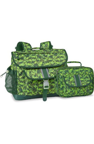 'Large Dino Camo' Water Resistant Backpack & Lunchbox (Kids)