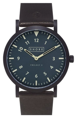 'Morecambe' Leather Strap Watch, 39mm