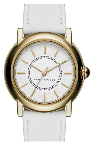 Marc Jacobs 'Courtney' Leather Strap Watch, 34mm