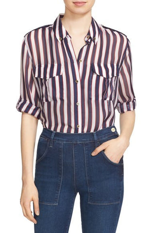 'Major' Stripe Silk Shirt