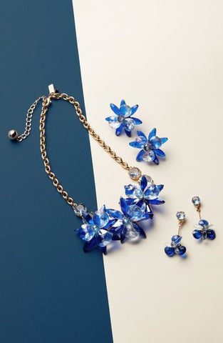 'Blooming Brilliant' Crystal Frontal Necklace