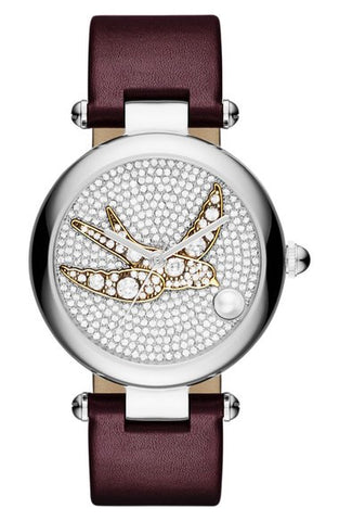 'Dotty' Leather Strap Watch, 34mm