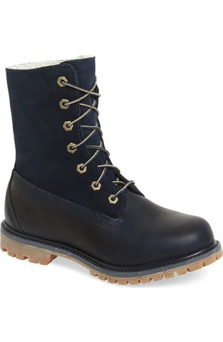 Timberland 'Authentic' Roll Top Faux Fur Lined Boot (Women)