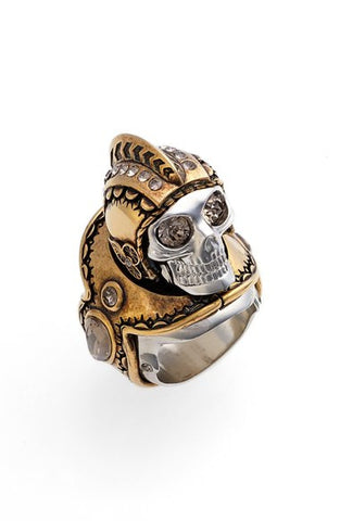 'Armour' Large Skull Ring