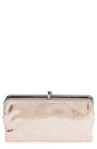 'Lauren' Leather Double Frame Clutch