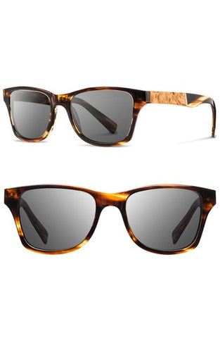 'Canby' 54mm Polarized Wood Sunglasses