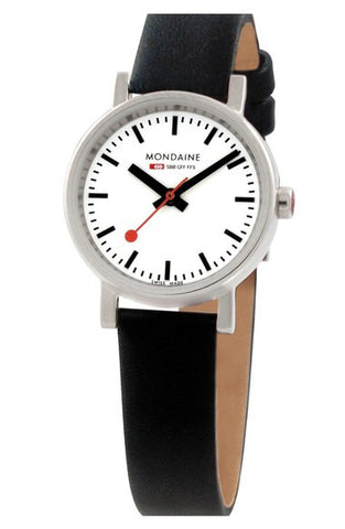 Mondaine '(Evo)lution' Leather Strap Watch, 26mm