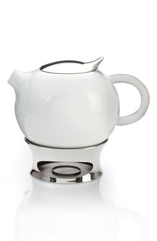 'Bulbo' Teapot with Infuser & Warming Base