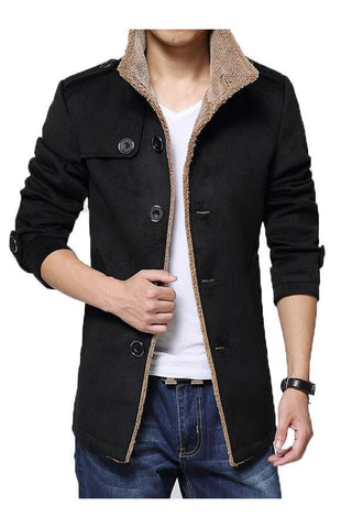Men Casual Slim Fit Collared Jacket