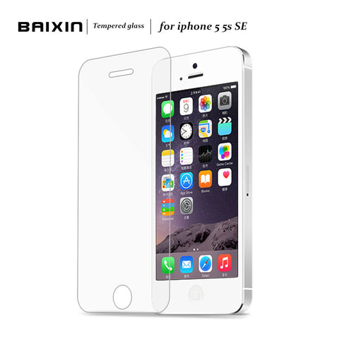 Premium Tempered Glass Screen Protector for iPhone 5, 5S, 5C