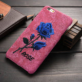 Rose Embroidery Retro Case for iPhone 6 6S 7