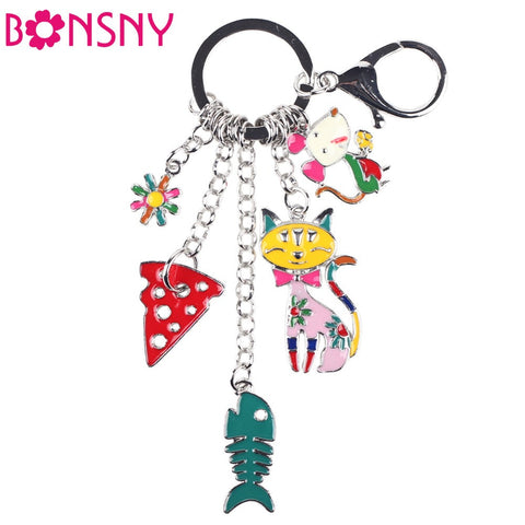 Fish Mouse Cat Marvel Charm Pendant, Bag Accessory or Key Chain