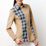 Asymmetric Women's Corduroy Shirt Slim Fit Pure cotton