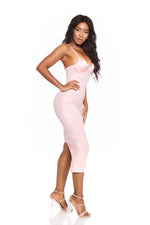 ATHENA PINK ROSÈ BUSTIER BODYCON DRESS