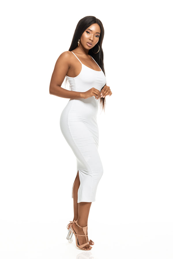 COCO WHITE BODYCON DRESS
