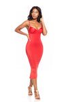 VADA ONLINE RED BUSTIER DRESS