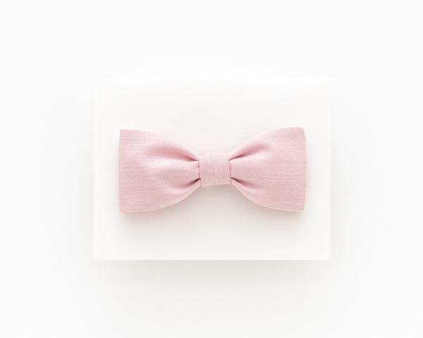 Coral pink floral bow tie