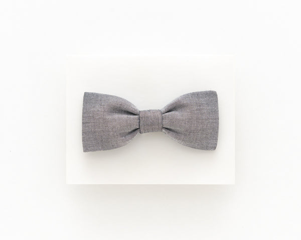 Dark grey bow tie