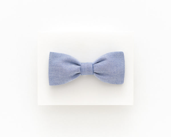 Light jeans blue bow tie