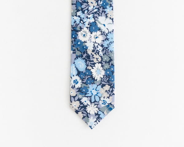 Royal blue floral tie