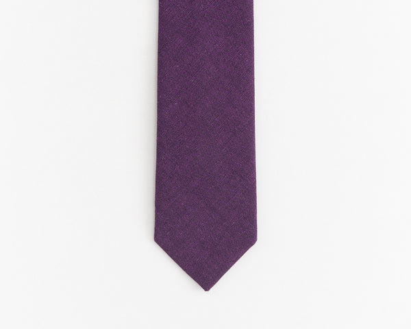 Dark purple tie
