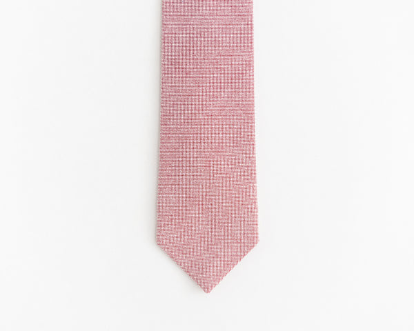 Salmon red tie