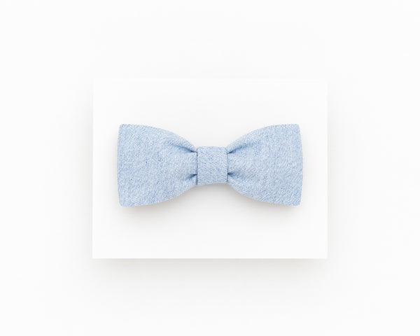 Light blue floral bow tie for men - Isola bow tie