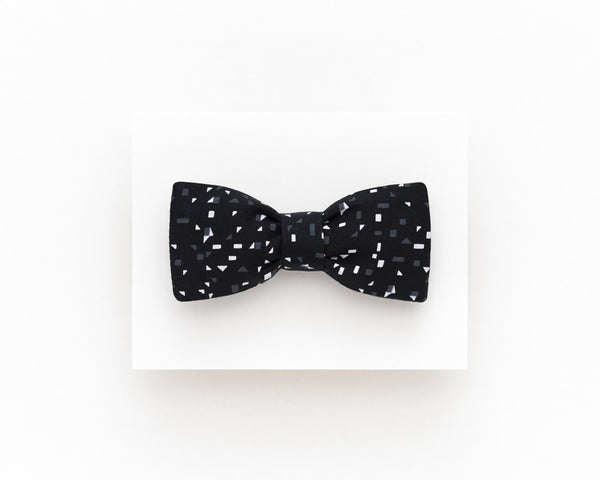 Black self tie bow tie, casual wedding bow tie - Isola bow tie