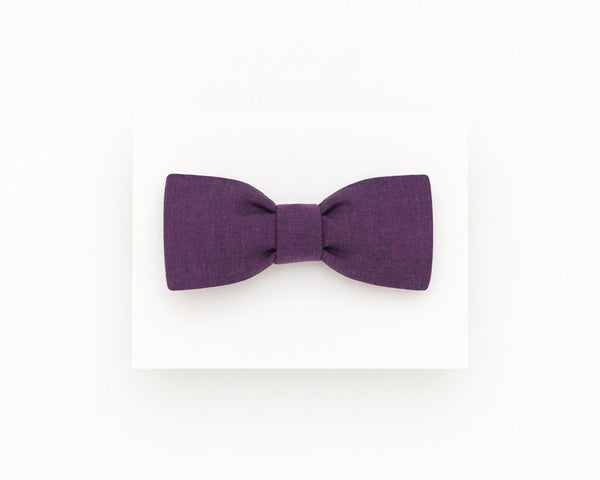 Dark purple bow tie, purple wedding bow tie - Isola bow tie