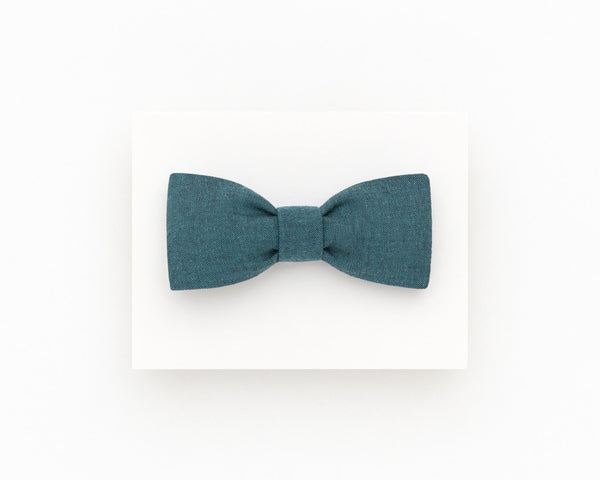 Dark teal men's bow tie, teal wedding groom's bow tie - Isola bow tie
