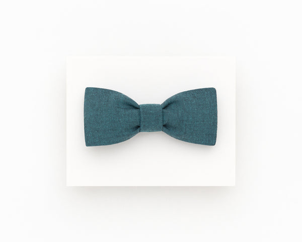 Dark teal bow tie for men, self tie bow tie - Isola bow tie