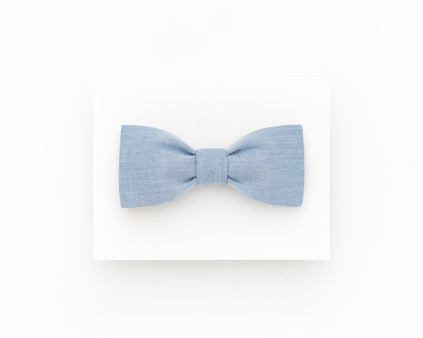 Light blue wedding bowtie for men, dusty blue men's bow tie - Isola bowtie