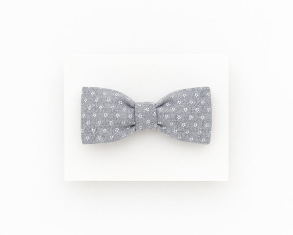 Light grey floral bow tie - Isola bow tie
