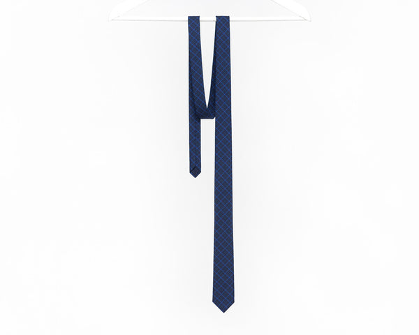 Navy blue skinny tie, men's navy tie, navy blue wedding tie - Isola ties