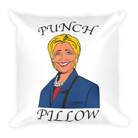 """Hillary"" Punch Pillow"