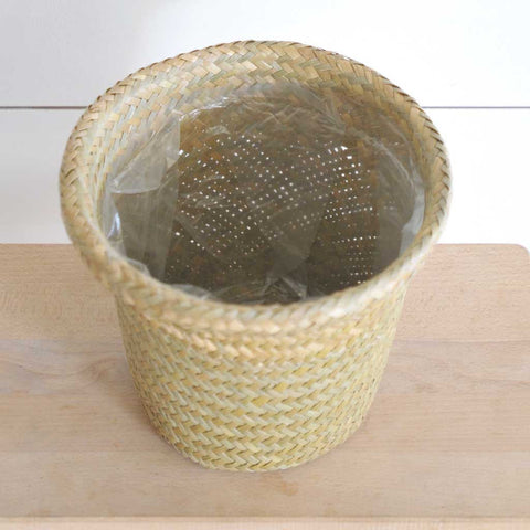 Woven Planter - Plastic Lined