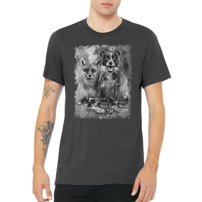 Viper - Border Collie & Fox - Spirit Animals - Shirt - Design 17