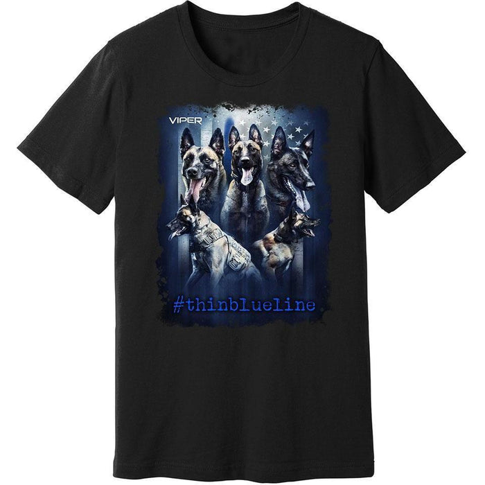 Viper - Belgian Malinois - #thinblueline - Shirt - Design 2