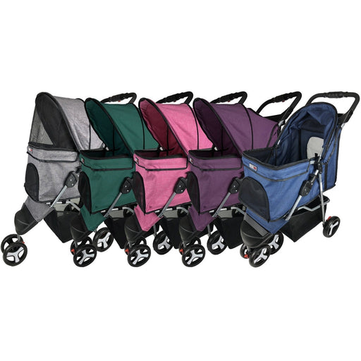 Casual Pet Stroller with a Removable Cup Holder