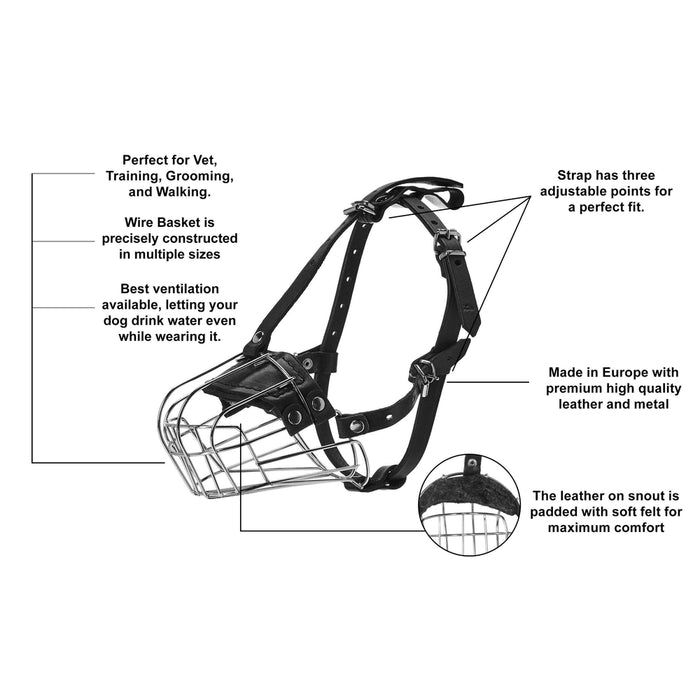 Viper Delta Metal Wire Basket Dog Muzzle
