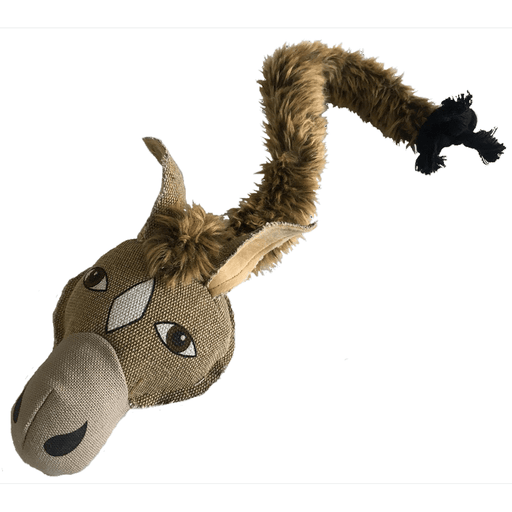 "22"" Safari Horse Animal Toy with Embedded Ball & Rope"