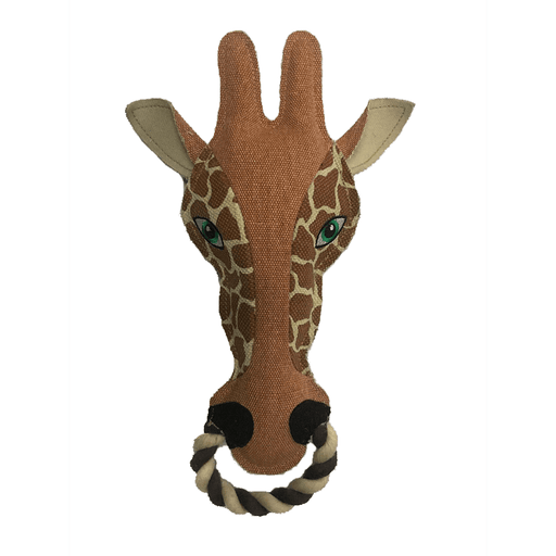 "13"" Nature Giraffe Animal Squeaky Toy"