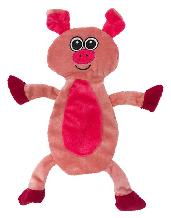 "12"" Pig Crinkle Flat Dog Toy"