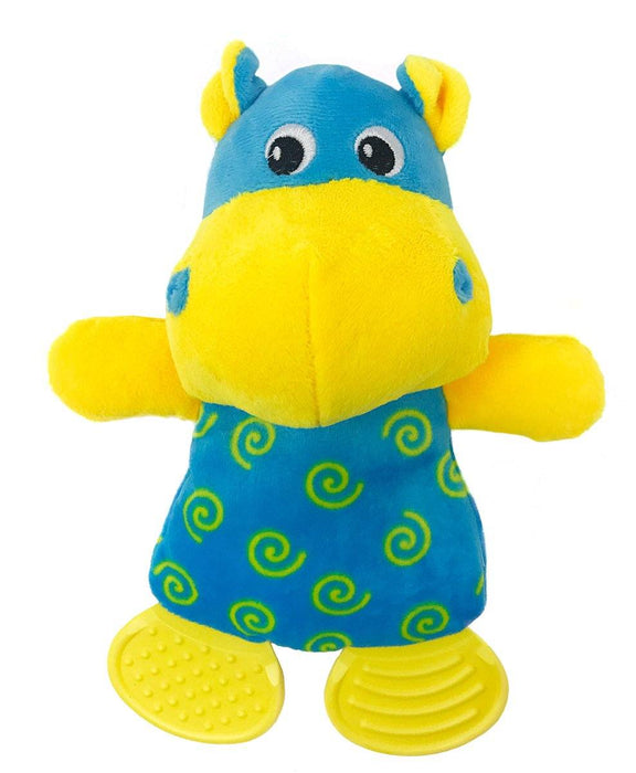 "10"" Hippo Soft Dog Toy"