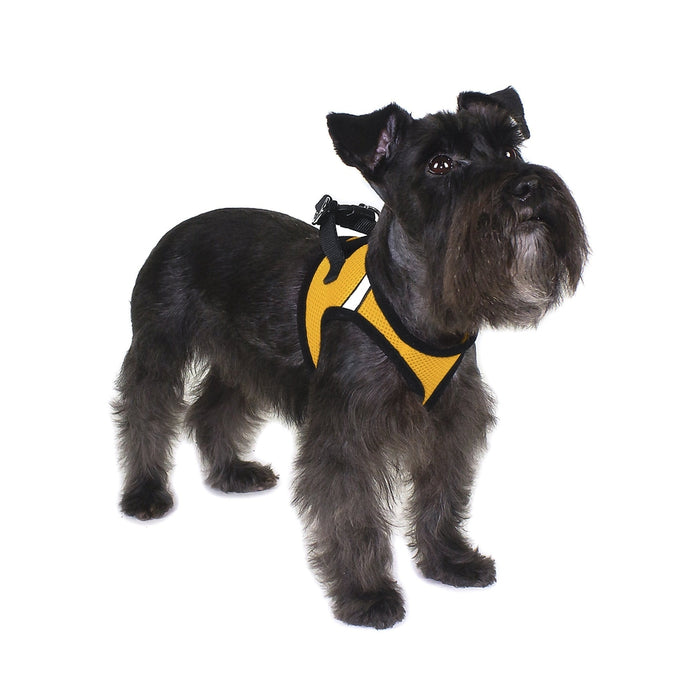 """THERAPY DOG Harness comes with 2 Patches Up to 26/"""" Chest York Mesh Vest RED"""