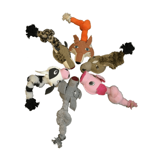 Safari Animal Toys + Ball & Rope Version